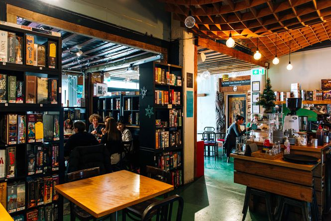 Inside Counter Culture where people are playing board games.