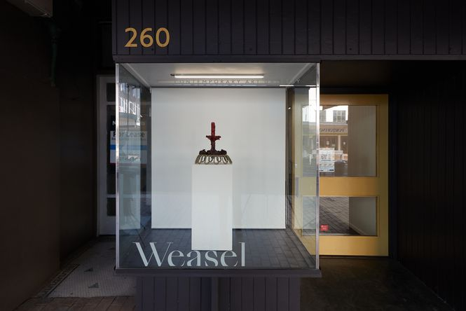 The exterior of Weasel Gallery.