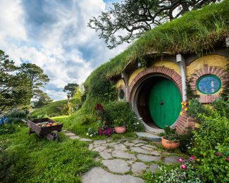 The Hobbiton set.