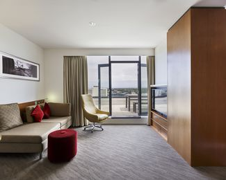 Inside an executive suite at the Novotel.