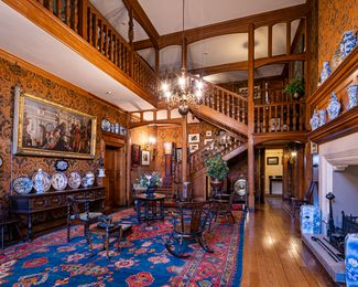 The Grand Hall at the Olveston Historic Home.